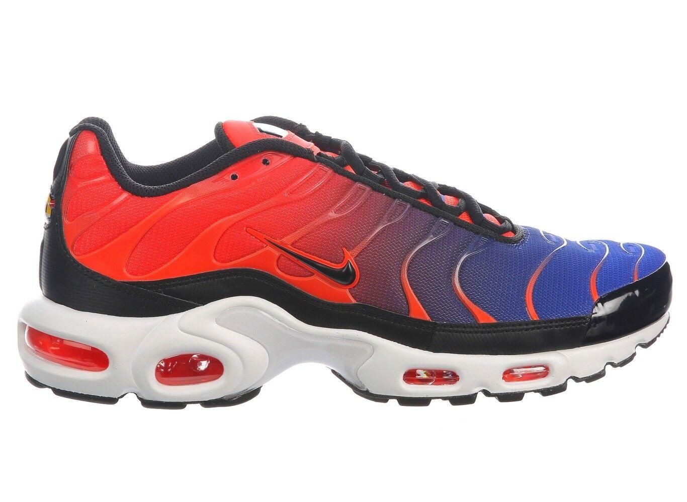 Nike Air Max Plus Mens 852630-800 Crimson Black bluee Running shoes Size 9