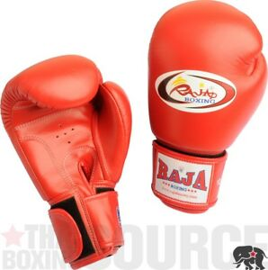 Details about Raja Boxing Gloves 14 oz Red - Ships from New York