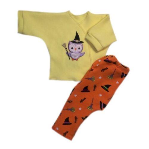 Hoot Owl Witch Halloween Baby Unisex Shirt Leggings 4 Preemie Newborn Sizes