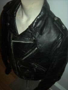 00458b7b6ab39 Details about VTG 70 MENS 40 SCHOTT BROS 613 PERFECTO LEATHER ONE STAR  MOTORCYCLE BIKER JACKET