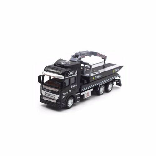 1:48 Pull Back Alloy Metal Car Model Transporter Garbage Truck Toy Vehicle Gift