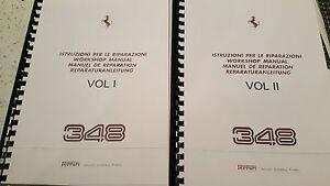 image is loading ferrari 348 workshop manual reprinted inc wiring diagrams