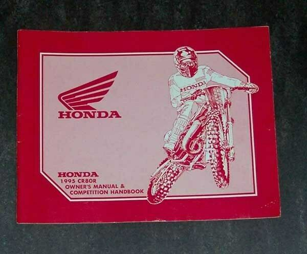 1995 Honda Cr80r Owner U0026 39 S Manual  U0026 Competition Handbook