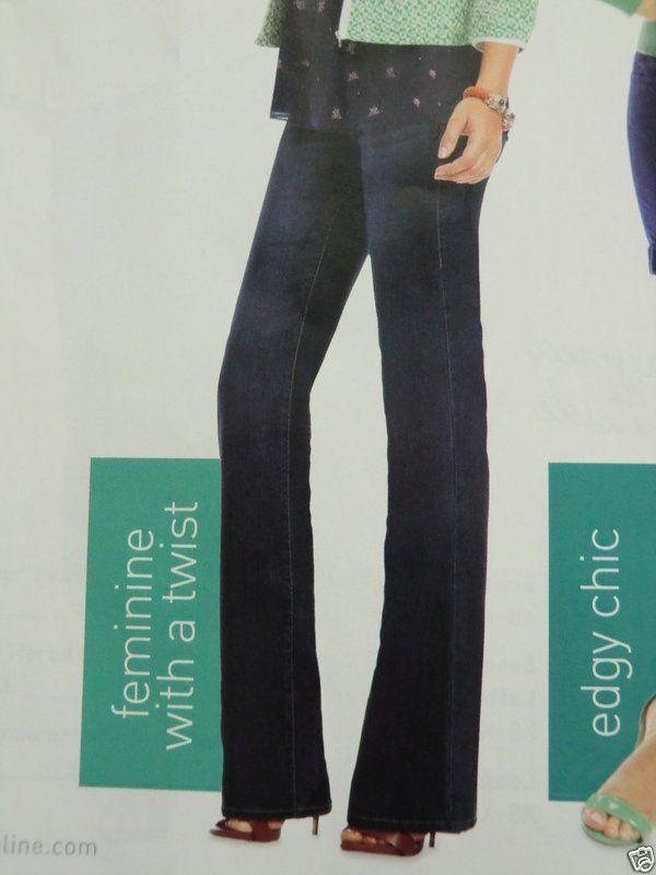 CAbi Zoe Flare Leg Dark Wash Jeans  Size 12 Long 35  Ins  NWT   =