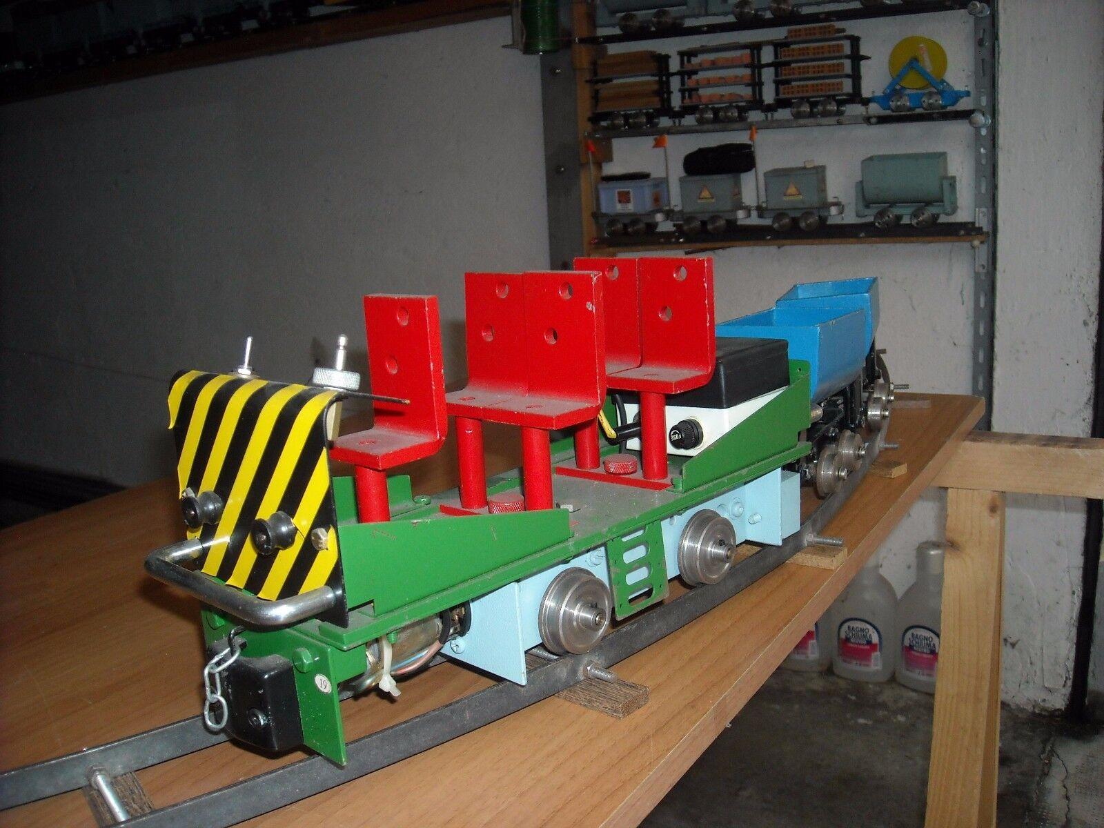 Trenino da giardino DRAISINA DECAUVILLE - Funzionante - scala 1/10