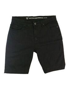 Versace V1969 Italia Abbigliamento Deportivo Srl Para Hombre Negro Pantalones Cortos De Mezclilla Talla 34 Ebay
