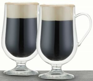 Le-Xpress-by-Kitchen-Craft-Set-of-2-Double-Walled-275ml-Irish-Coffee-Glasses