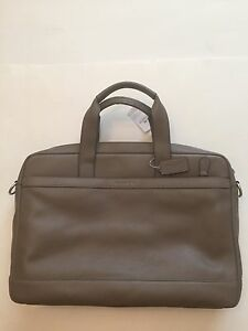 Image Is Loading Nwt Coach Men 039 S Leather Hudson Briefcase