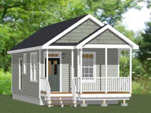 Model 3C PDF Floor Plan 16x32 Tiny House 511 sq ft