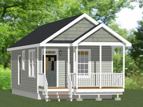 Model 1N 16x32 Tiny House PDF Floor Plan 511 sq ft