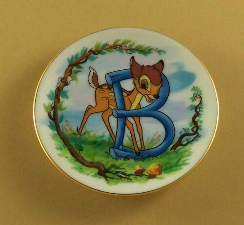 Disney/'s Alphabet Miniature Plate B IS FOR BAMBI Disney Collection Mini Deer