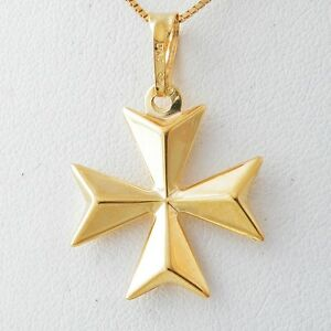 gold cross silver maltese medium yellow sterling arista pendant engraved