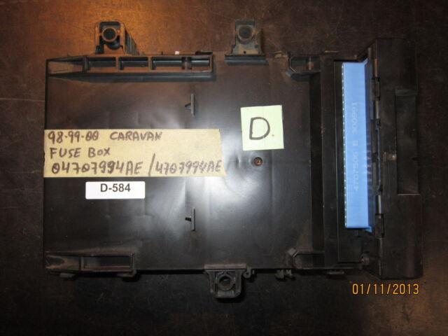 [DIAGRAM_5UK]  98 99 00 CARAVAN FUSE BOX #04707994AE/4707994AE *See item description* for  sale online   eBay   98 Caravan Fuse Box      eBay