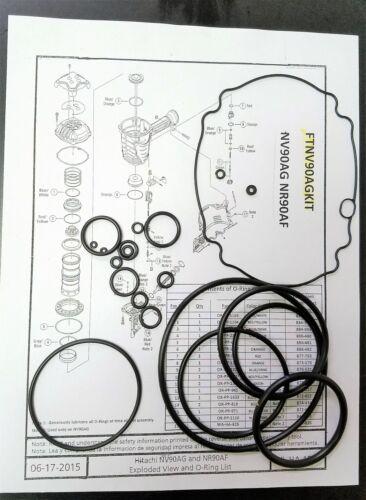 "S HITACHI NV90AG Spire NV90AG Encadrement Cloueur O-Ring Kit 1 3//4/""-3 1//2/"" ftnv 90KIT"