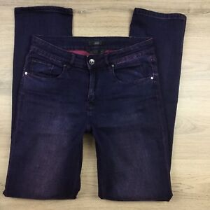Jag-Women-039-s-Jeans-High-Rise-Slim-Straight-Stretch-Purple-Size-10-W30-L33-AR12