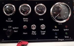 narrowboat instrument panel made to your requirements. Black Bedroom Furniture Sets. Home Design Ideas