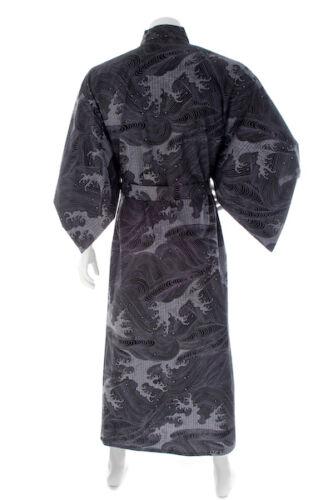 Japanese Kimono Wave Long Black