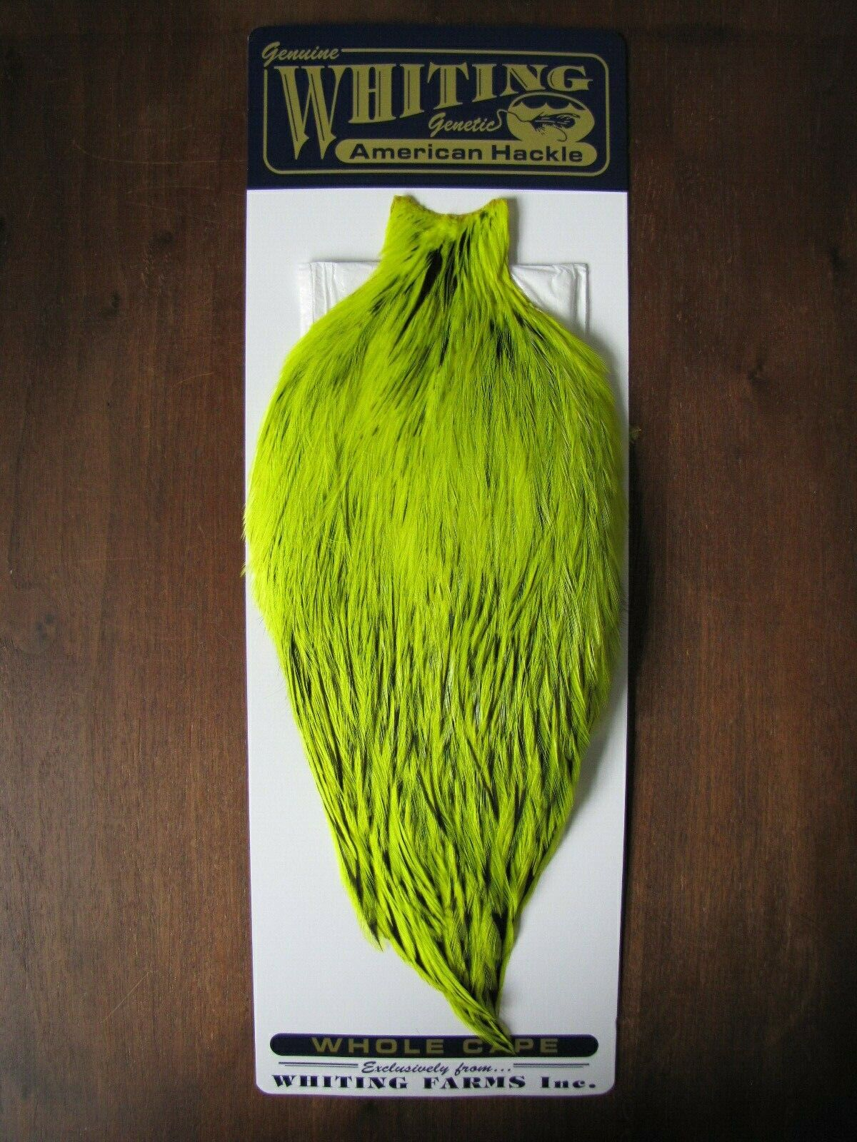 Fly Tying Whiting American  Rooster Cape BLW Fl. Yellow Chartreuse  A  customers first