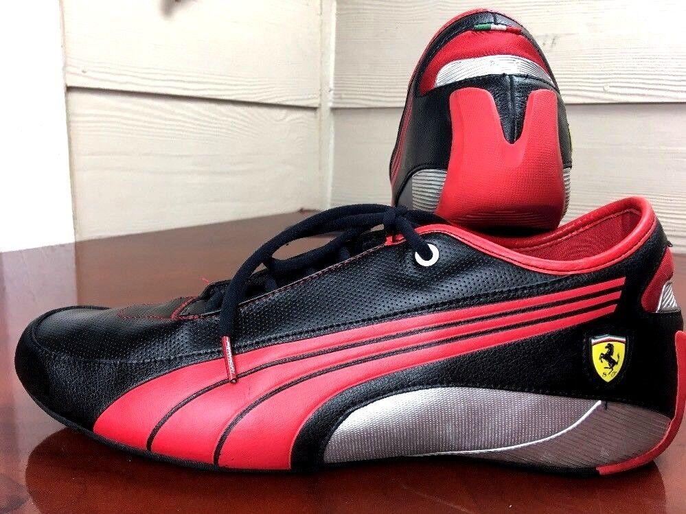PUMA Scuderia Ferrari producto Numerada Negro Rojo conducción OFFICIAL Zapatos 13 EU47
