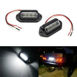 2PCS-Waterproof-Car-License-Plate-Lamp-12V-6-LED-For-Boat-Truck-Trailer