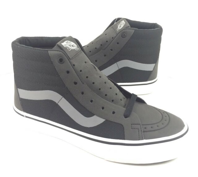 6c36613f7d NEW Vans Sk8 Hi Reissue Rapidweld Black Skate Shoes Sneakers Mens Size 7 8.5