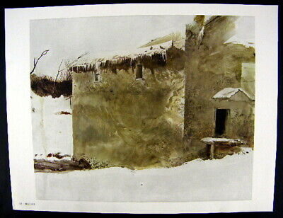 Andrew Wyeth Gravure Print PIGEONS The Mill