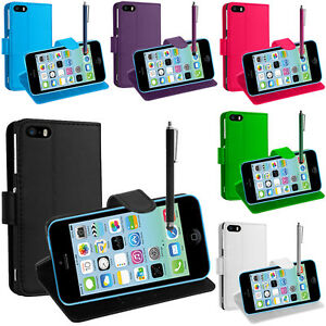 FUNDA-PROTECTORA-PARA-Apple-iPhone-5c-Movil-Cartera-Funda-con-tapa