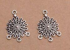 30pcs Tibetan Silver Floral Earring Connectors R733