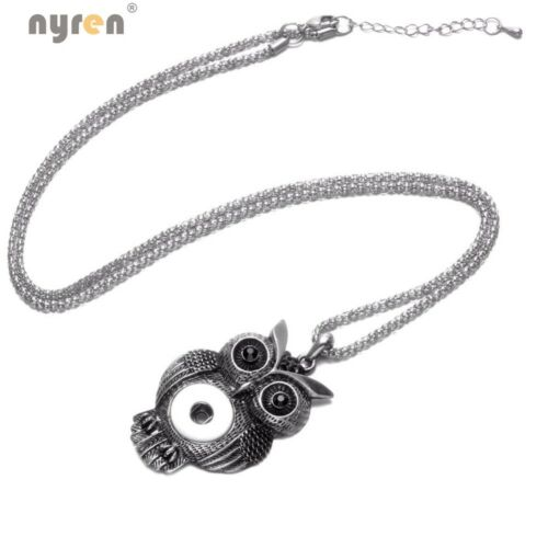 Multi Styles Snap Charm Pendant Necklace Fit 18mm Snap Button 20mm Snap Jewelry
