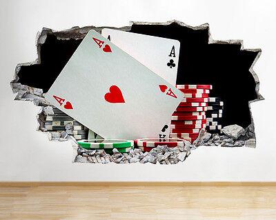 Jeu de cartes cartes Mural Sticker Autocollant c0829