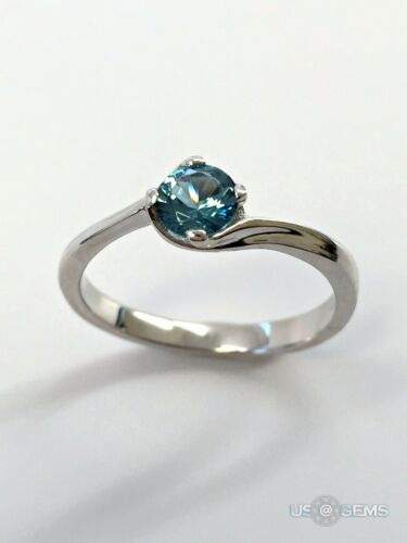 925 Sterling Silver Ring created Topaz London Blue 0,5 ct Jewelry