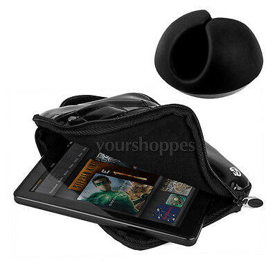 Black Cable Organizer +Bag Pouch Sleeve Case for iPad Mini / 2 / 3 / Retina 7.9""