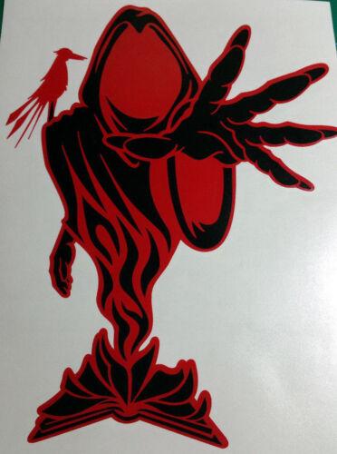 "RED AND BLACK WRAITH 10/""  icp insane clown posse twiztid  rare ABK"