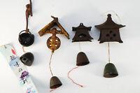 Vintage Japan NAMBU TEKKI Iron Wind Bell Chime 4pc Free Shipping 656k20