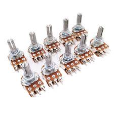 Us Stock 10pcs 100k Ohm B100k Dual Stereo Potentiometer Pots Shaft S 20mm 6pin