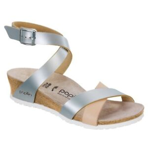 70c644fe521 Image is loading CLEARANCE-Papillio-by-Birkenstock-LOLA -Leather-Frosted-Metallic-