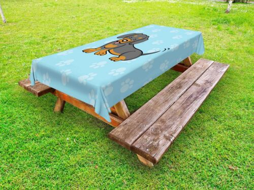 Dog Outdoor Picnic Tablecloth in 3 Sizes Decorative Washable Waterproof