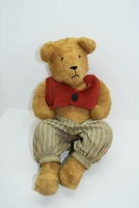 Vintage-Antique-Handmade-Clothes-Teddy-Bear-Rare-Jointed-Legs-She-Shed