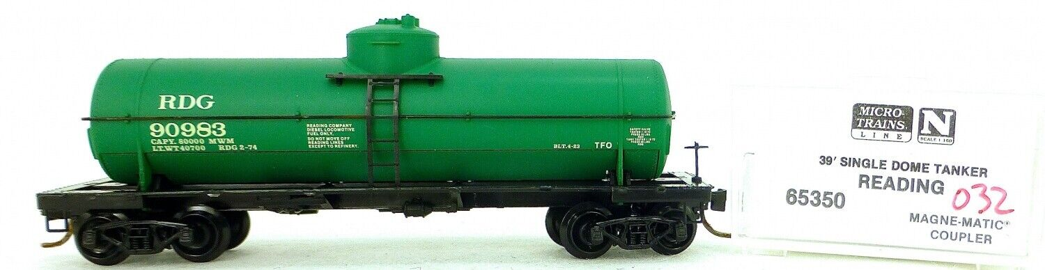 Micro Trains Line 65350 Reading 90983 39' Single Dome Tank Car