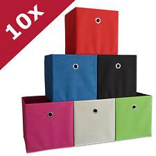 """VCM 10er Set Faltbox Klappbox Sammelbox Stoffbox Regalbox Regalkorb """"Boxas"""""""