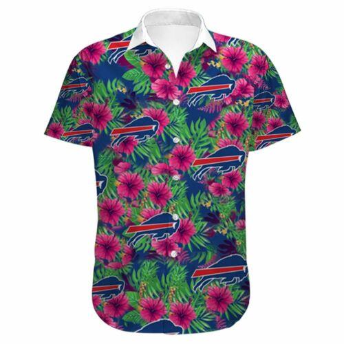 Buffalo Bills Hawaiian Shirts Men/'s Summer Holiday Beach Short Sleeve 3D T-Shirt