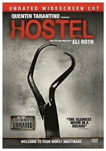 Mint-DVD-Hostel-Unrated-Widescreen-Cut-Quentin-Tarantino-Eli-Roth-Scary-DVD