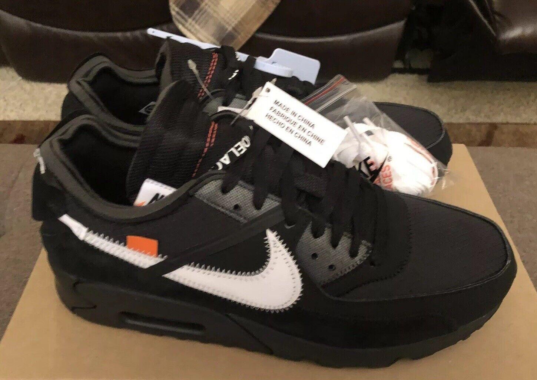 Deadstock Nike The 10 Air Max 90 x Off-White Size 10.5 Black Cone White The Ten