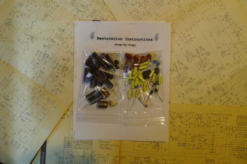 Harman Kardon TA224 tube restoration kit service recap capacitor fix rebuild