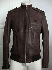 GALLIANO LEATHER JACKET GIUBBOTTO PELLE Herren Lederjacke Gr.48 NEU mit ETIKETT