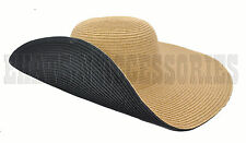 a7c73b1aa17 item 4 Two Tone Wide Brim Beach Summer Floppy Outdoor Sun Hat Visor UPF50  Natural Color -Two Tone Wide Brim Beach Summer Floppy Outdoor Sun Hat Visor  UPF50 ...