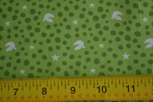 By 1//2 Yd N1262 Green /& Brown on Purple Quilting Cotton Batik