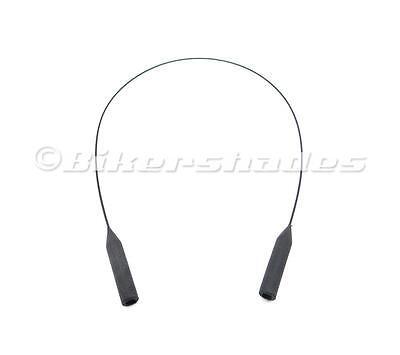 Sunglasses Glasses Retainer Cord Lanyard Black Strap String Tightener Rubber Tip