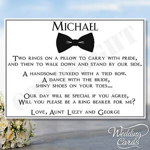 Will you be my Page boy Ring Bearer Invite Invitation ...