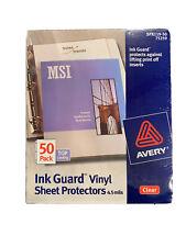 Avery Ink Guard Vinyl Sheet Protectors 45 Mils 50 Pack Top Loading 75259